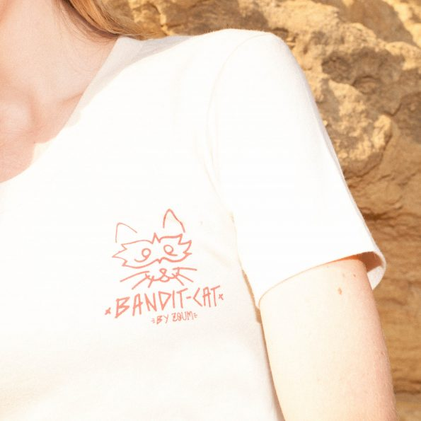 T-shirt Sable « Bandit Cat »
