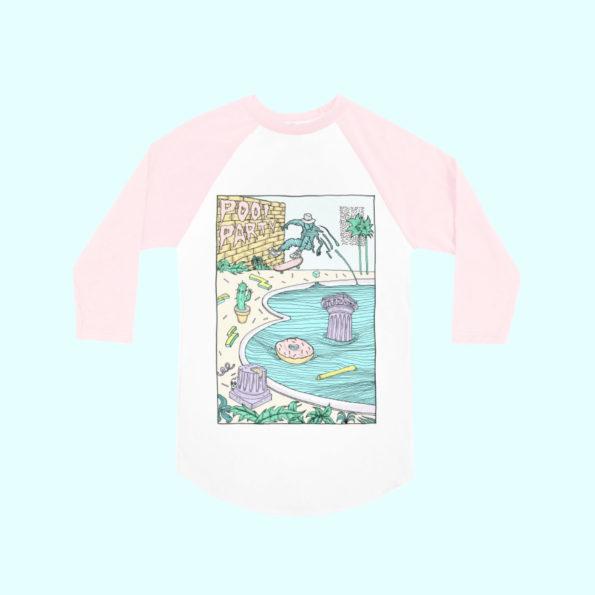 // T-shirt baseball «Pool Party»