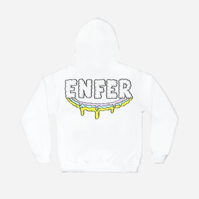 Paradise in Hell white Hoodie