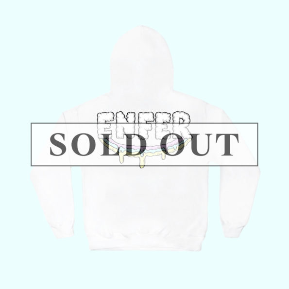 Sold out // Hoodie blanc « Paradise in hell »