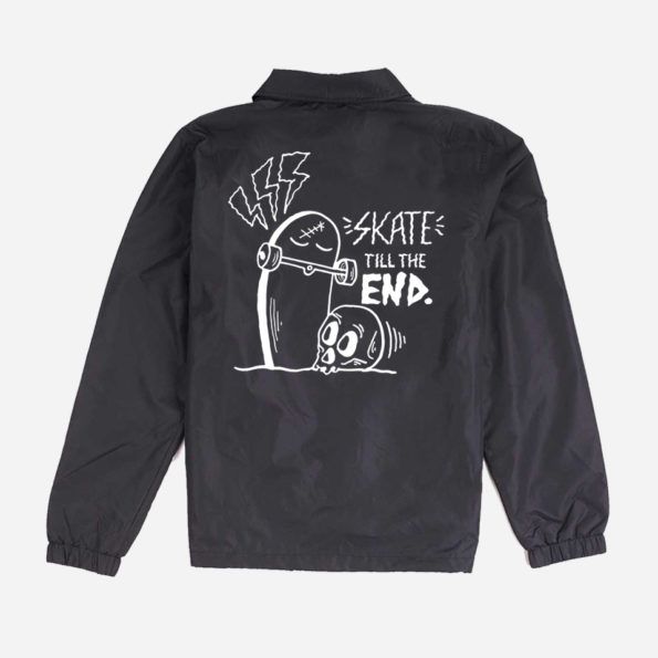 Skate till the end black jacket