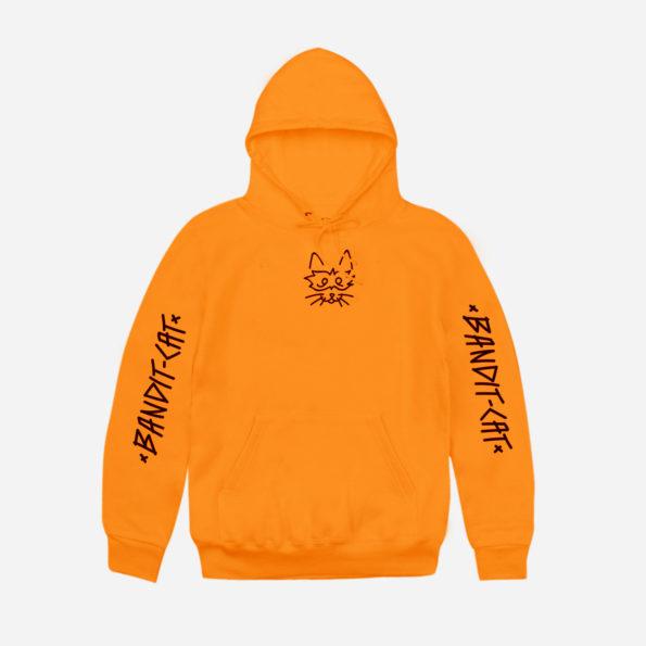 // Hoodie orange «Bandit-Cat»