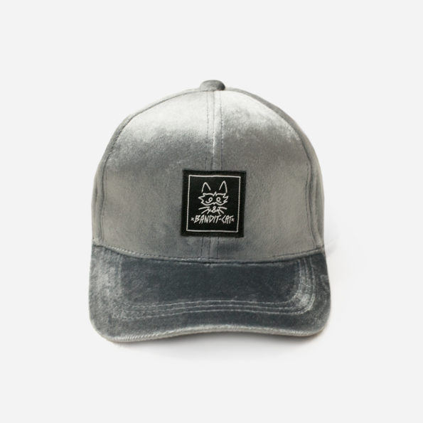 Grey velvet cap