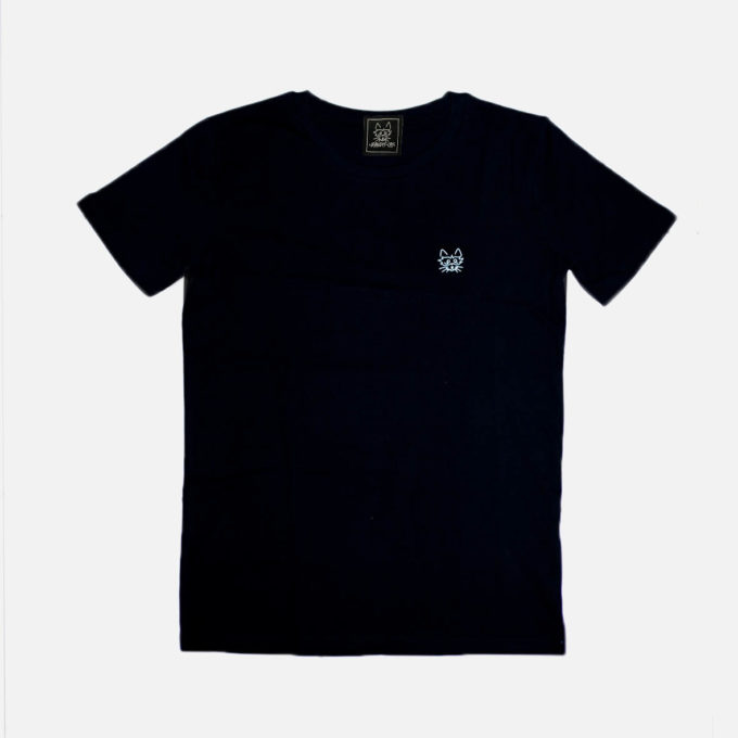 Embroidery black T-shirt