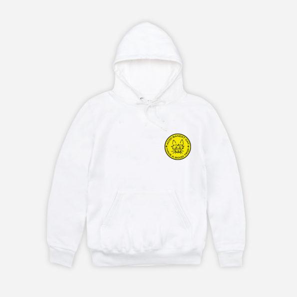 Acid white hoodie