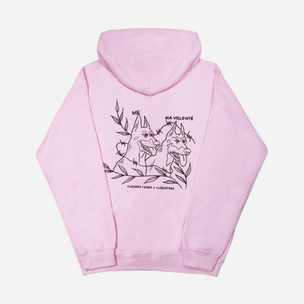 IRL MEME Yugnat999 X Thomas Tears pink dog hoodie