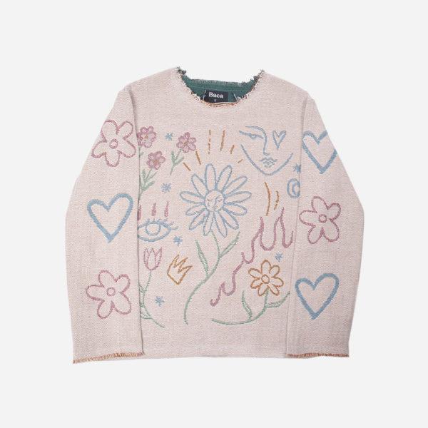 Sunflower jacquard Woven Sweater